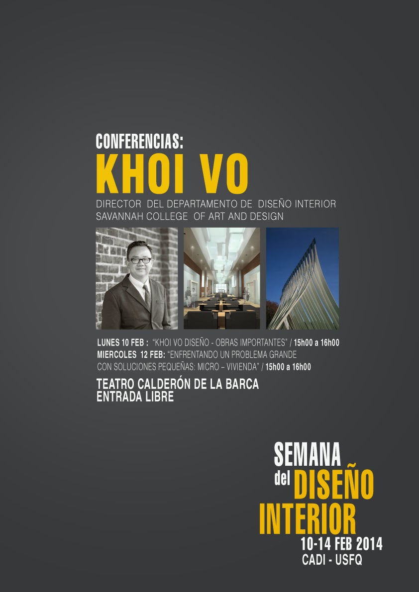 Semana del dise o interior invitado khoi vo director for Diseno interior departamento