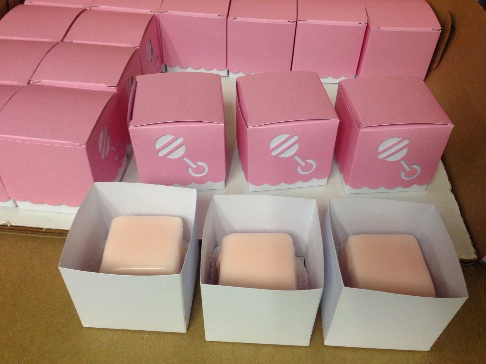 Cakes by Mindy: Pink Baby Shower Petit Fours