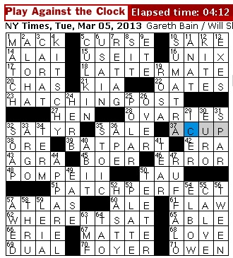 rex parker does the nyt crossword puzzle repeated lyric in java