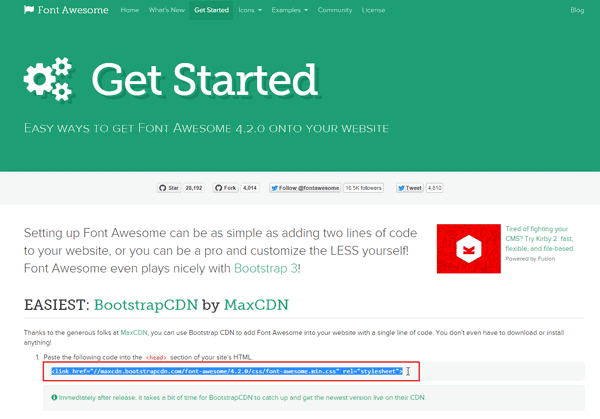 Get Started Font Awesome Terbaru Versi 4.2.0