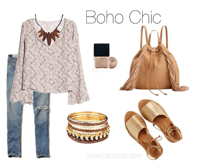 Search your closet for pieces that fit the Bohemian lifestlye and build your own Boho Chic look