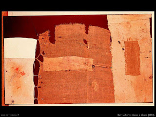 Alberto Burri le opere del grande maestro -sacco e bianco