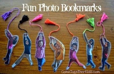 marcador de livros com foto