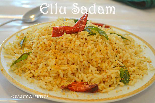 ellu sadam recipe / til rice / sesame rice / healthy lunch box menus: