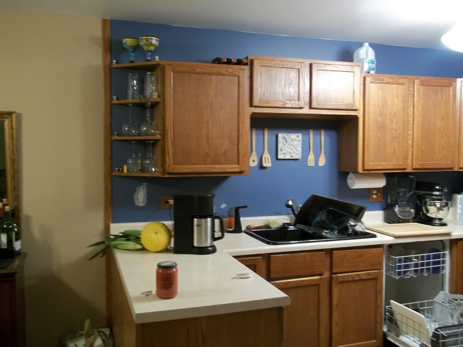 Cassandrasworldofsci Light Blue Kitchen Walls