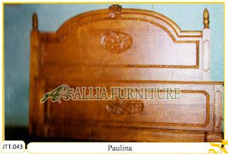 Tempat tidur kayu jati ukir jepara Paulina murah.Jakarta