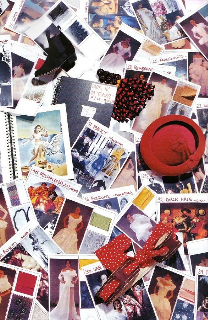 John Galliano's inspiration board | Numero #88 November 2007