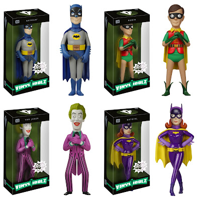 Batman 1966 Vinyl Idolz Series by Funko & Vinyl Sugar - Batman, Robin, The Joker & Batgirl
