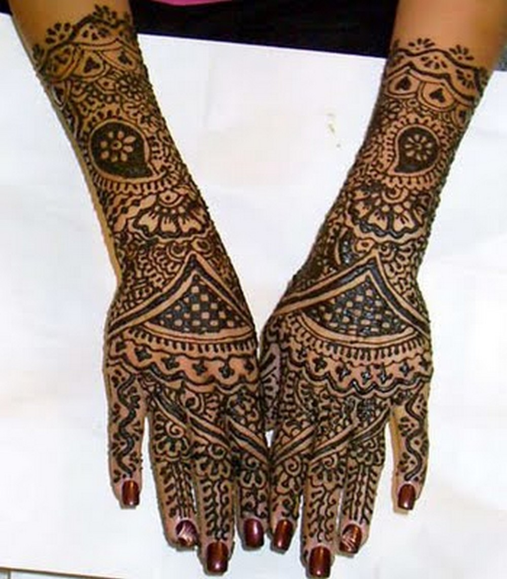 Mehndi Bridal New Design : Full hand mehndi desings