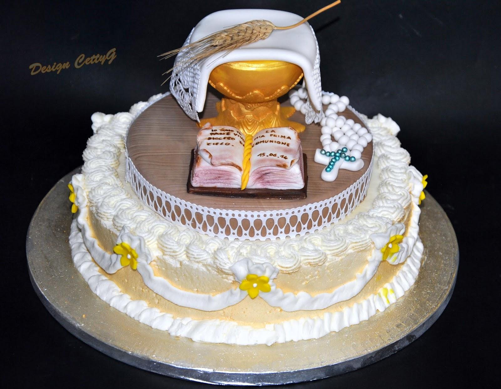 Le torte decorate di cettyg prima comunione for Decorazione torte prima comunione