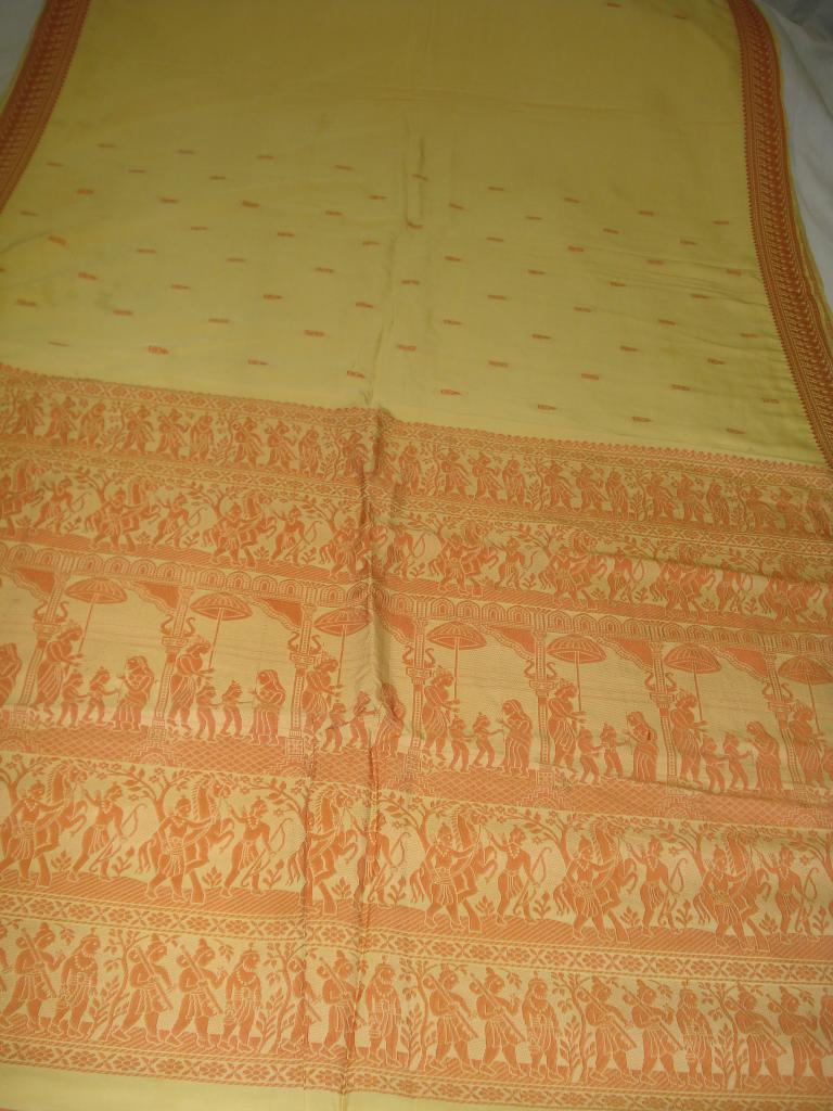 Baluchari Saree with Ramayana Scene