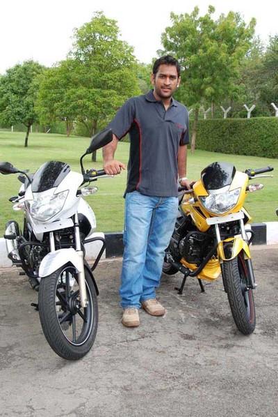 M S Dhoni – Sports Bikes