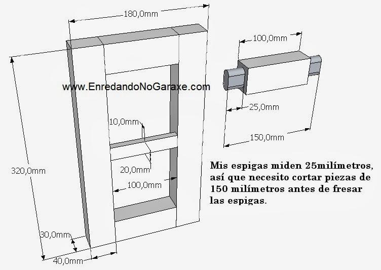Planos pequeña vitrina de colgar. Enredandonogaraxe.com