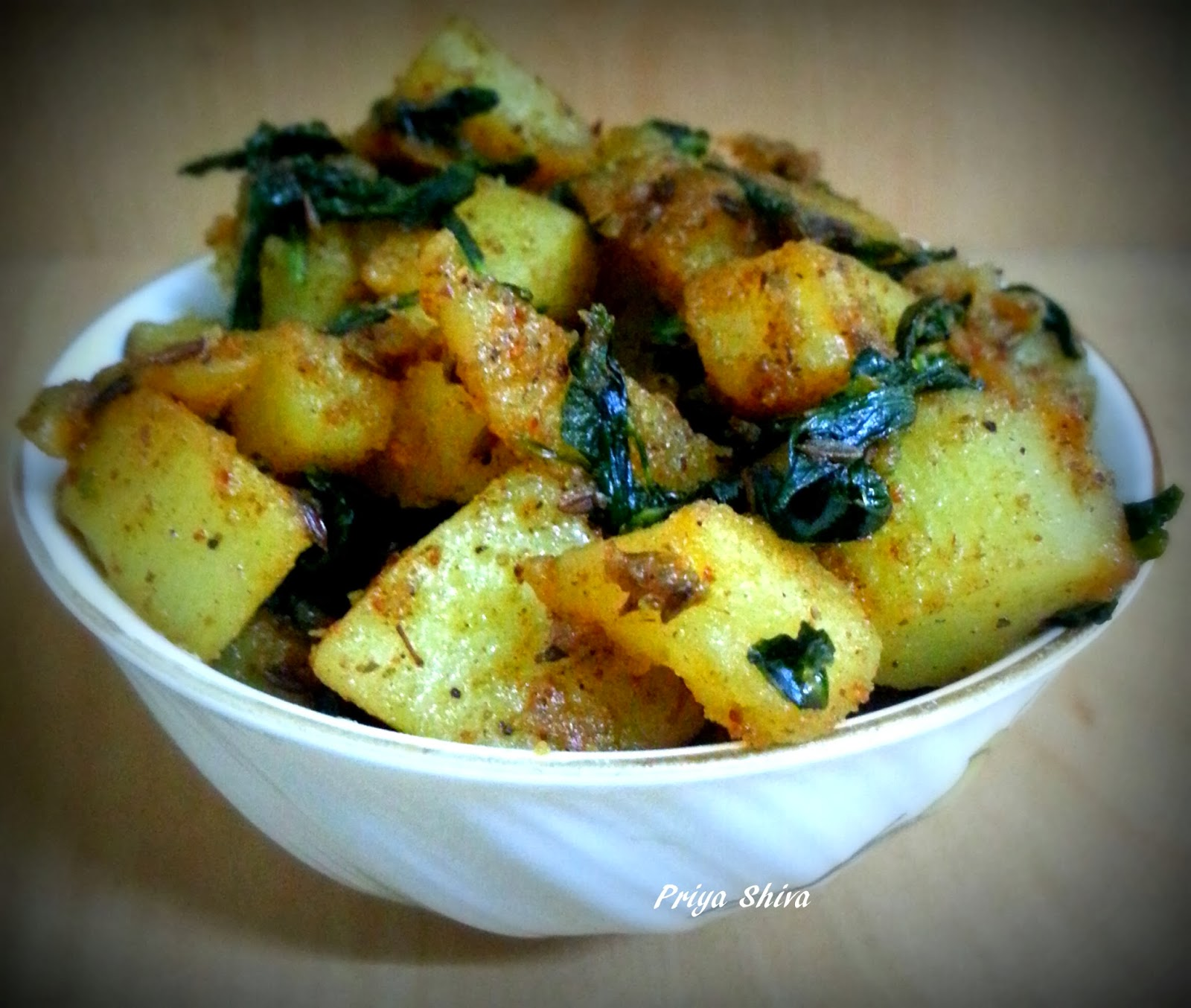 ... of my kitchenette : Aloo Methi Recipe / Potatoes with fenugreek Leaves