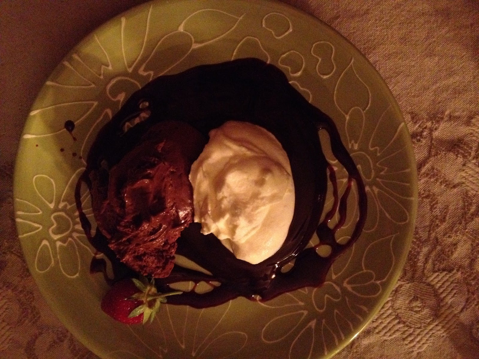 Milk Chocolate Mouse with Port Ganache and Whipped Creme Fraiche for 6 ...