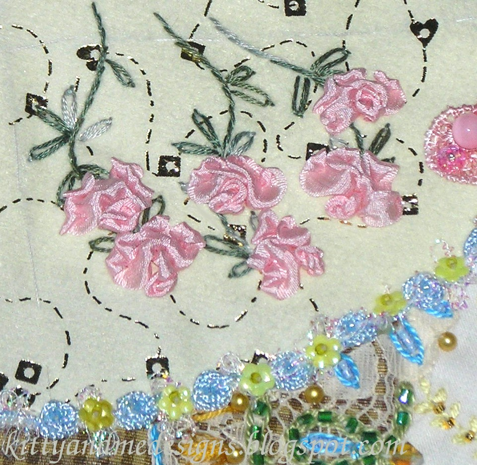 Kitty and me designs silk ribbon embroidery easy rose