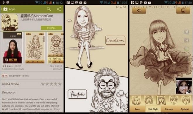 Seputar Android™ | Tips Trick Android  - Cara Merubah Foto Menjadi Karikatur di Android