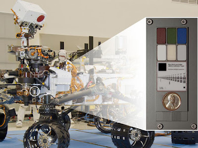 Место расположения калибровочных элементов камеры марсохода Curiosity