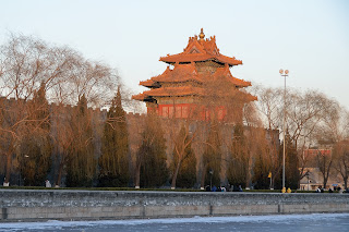 Tower at the southeast corner of the Forbidden City in Beijing