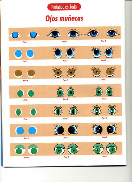 Dibujos y Plantillas para imprimir: Ojos para munecos