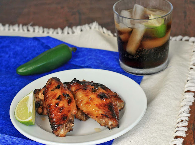 Spicy Coca-Cola Jalapeno Glaze Chicken Wings | Girl Cooks World