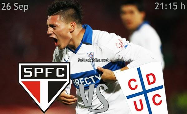Sao Paulo vs Universidad Católica - Copa Sudamericana - 22:00 h - 26/09/2013