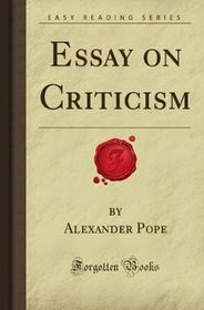 Essay Criticism Analysis