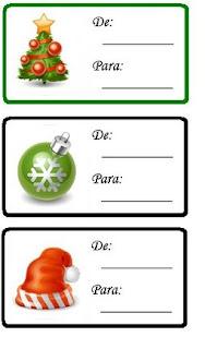 etiquetas desenho natal