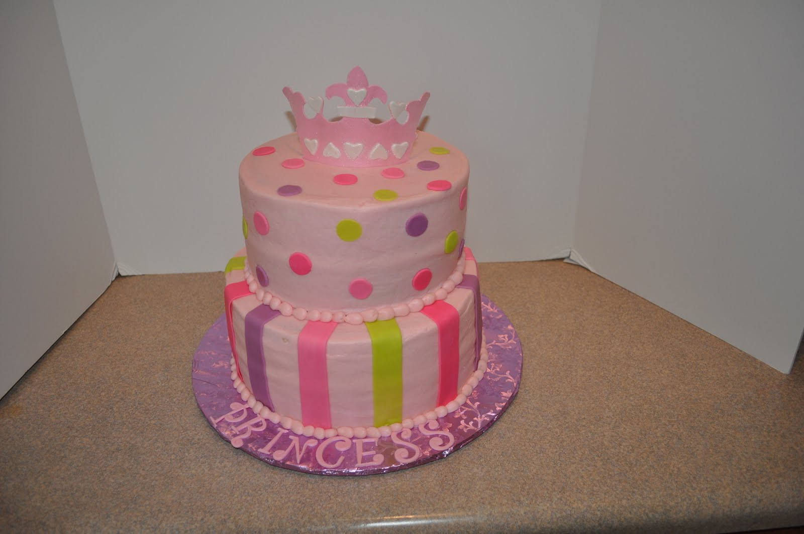 Morgan 39 s cakes baby shower princess cake for Baby cakes decoration ideas