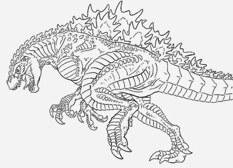 childrens godzilla coloring pages - photo#6