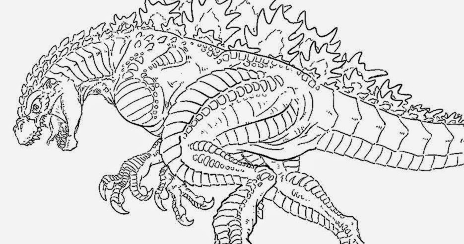 free godzilla 2014 coloring pages - photo#12