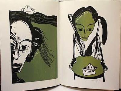 Doppelseite aus dem Buch Marie Luise Kaschnitz - Das dicke Kind.