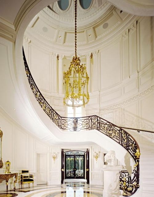Home interior design luxury interior design staircase to for Luxury house plans with photos of interior
