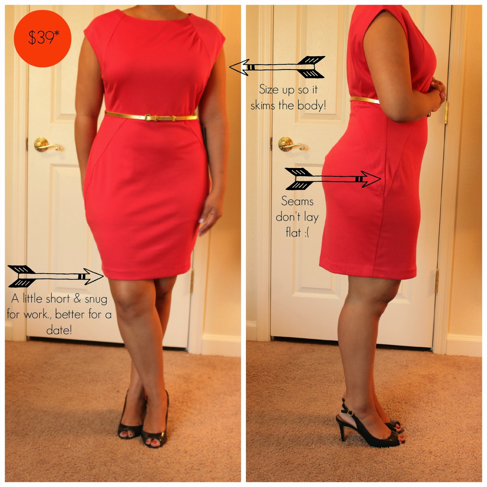 the limited petite red dress