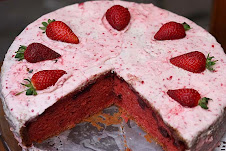 Red Velvet Strawberry Cake