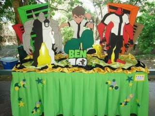 Children parties, Ben 10 decoration