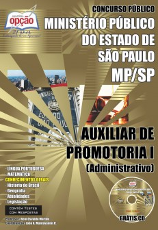 Apostila Concurso MP-SP 2016 (GRÁTIS CD)