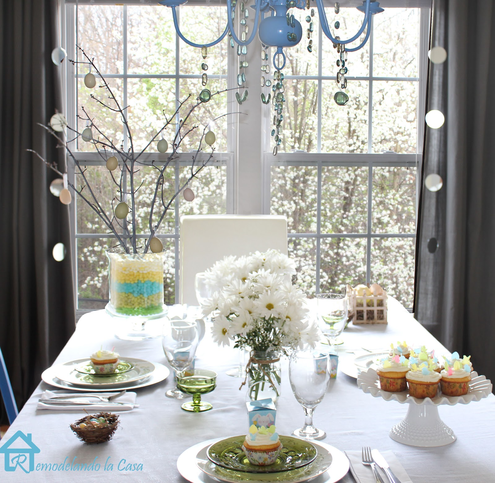 Spring Tablescapes Unique With Easter Table Scape Photo