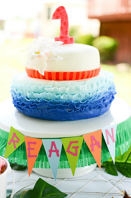 My Next Party Feature Goes To This Super Fun Happy LUAU 1ST BIRTHDAY PARTY Submitted By Linda Schwartz Of Frog Prince Cake Cookie Design Love