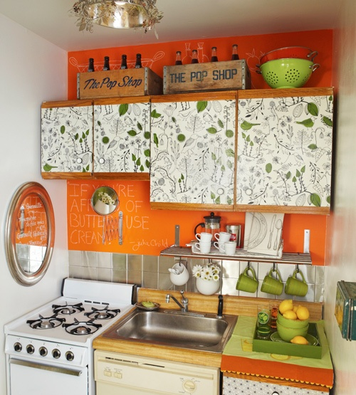 Mini cozinha jeito de casa blog de decoracao for Kitchen colors with white cabinets with plier papier