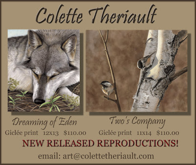 Limited Edition Wildlife Prints by Animal Artist Colette Theriault