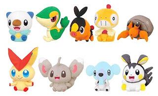 Pokemon Plush Koro Nui (Round shape) Victini Snivy Tepig Oshawott Dwebble Scraggy Minccino Emolga Cubchoo Banpresto