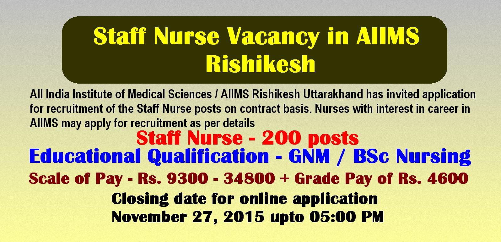 job application for staff nurse