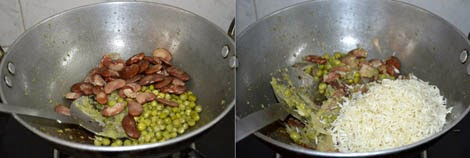 preparation of double beans rice