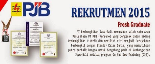 Lowongan Kerja Terbaru BUMN PT PJB Group PLN Maret 2015