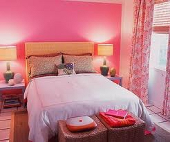 Romantic Bedroom Designs Color Pink For Valentineu0027s Day