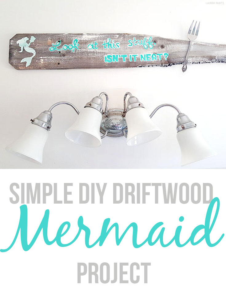 From funky 50's bathroom to a Mermaid Sanctuary, check out my new, beautiful mermaid gallery wall AND learn how to make an awesome DIY mermaid sign!