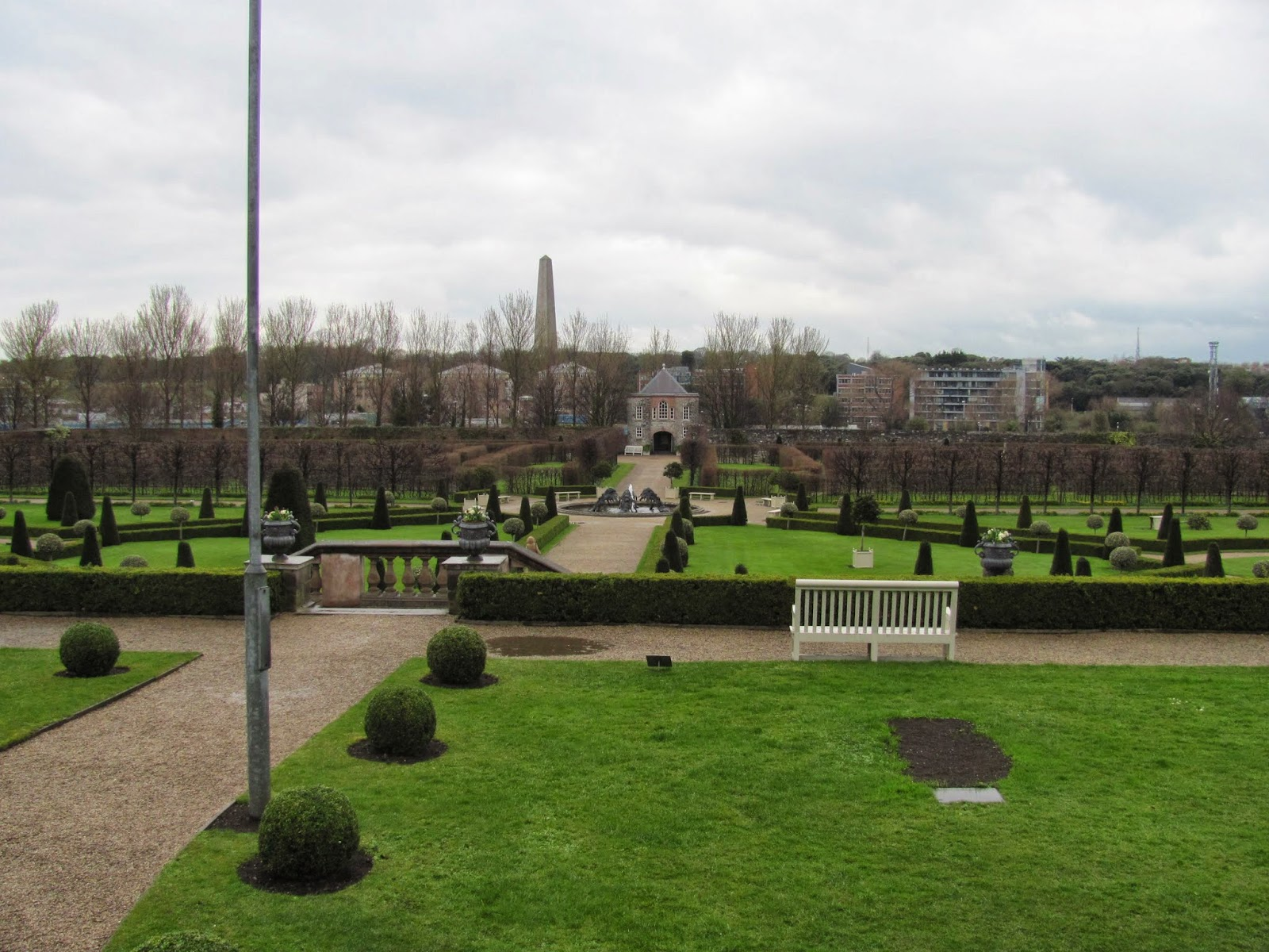 Looking North from the South Edge Royal Hospital Gardens Kilmainham Dublin Ireland