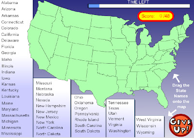 Technology Rocks Seriously US States And Capitals - Map of us test