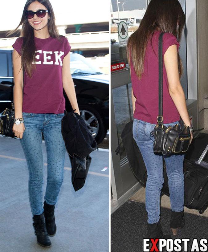 Victoria Justice embarcando no aeroporto LAX rumo ao Brasil - 23 de Setembro de 2012